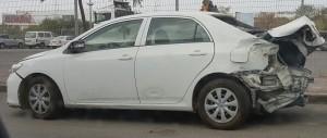 מכירת רכב לפירוק תאונה בחלק האחורי