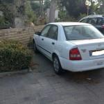 רכב מאזדה לנטיס לבנה לפירוק